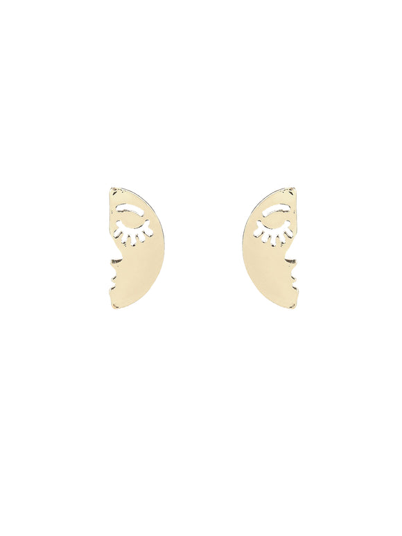 Mismatched Face Earrings