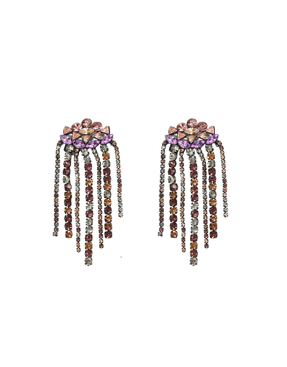 Bejewelled Tassel Earrings