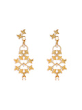 Dainty Gold Leaf Earrings
