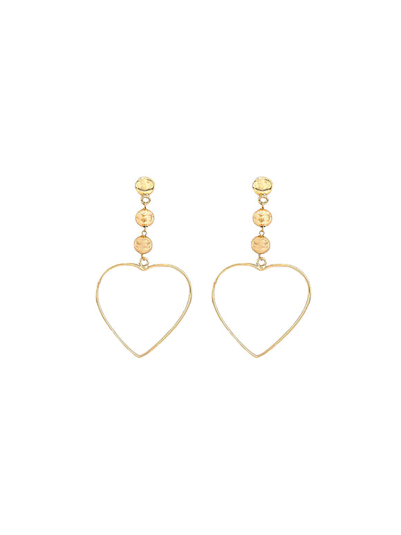 Hanging Heart Earrings