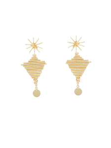Piped Statement Earrings