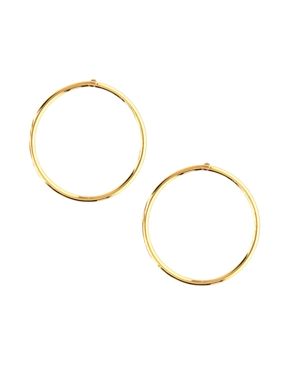 Circular Gold Earrings