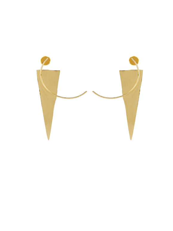 Gold Structured Earrings