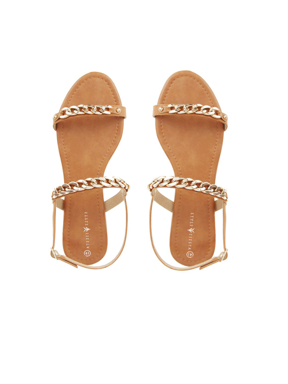 Linked Two Strap Sandal