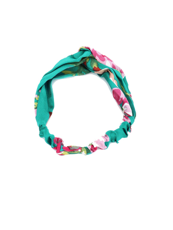 Turquoise Blue Floral Hairband