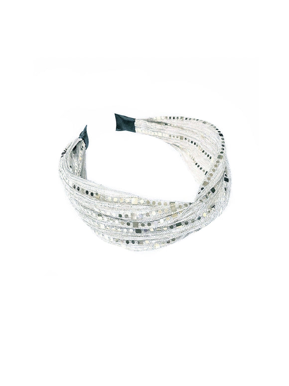 Silver Sequined Hairband