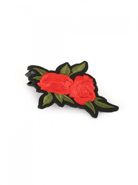 Rose Patch Hair Clip