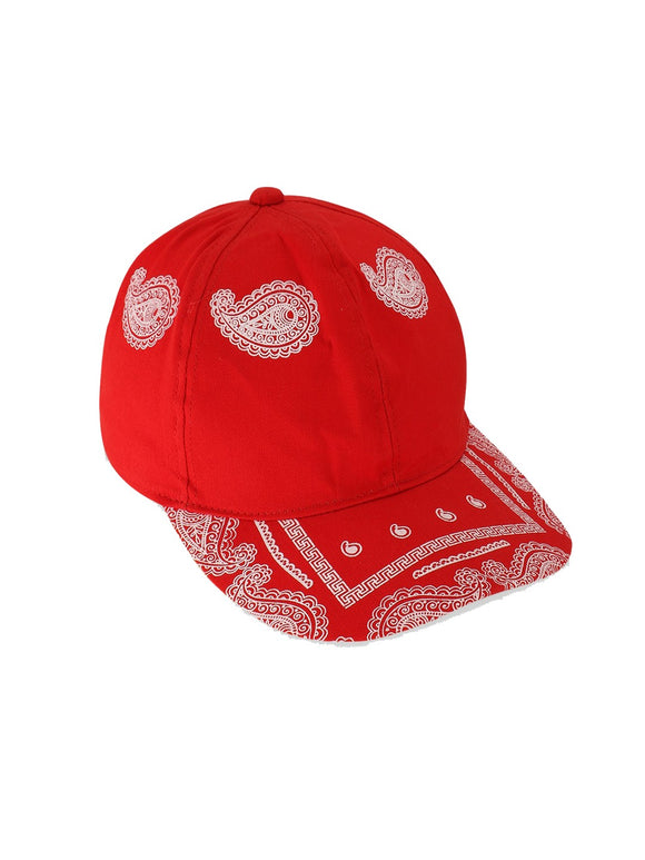 Printed Red Cap
