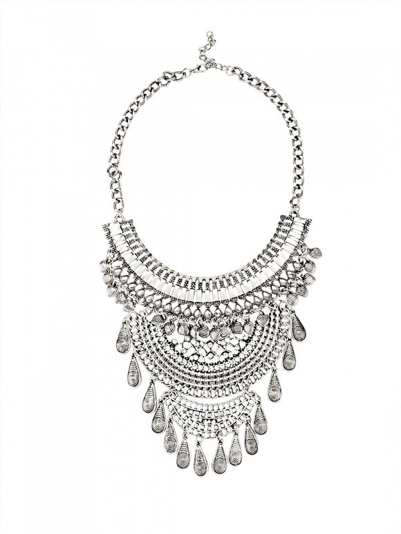Silver Boho Necklace