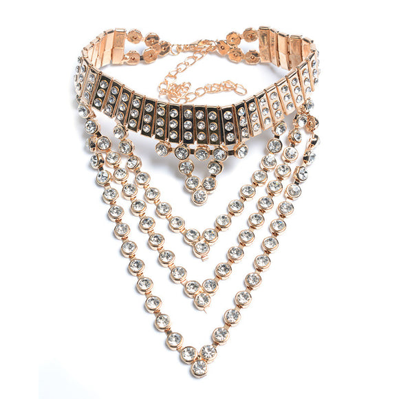 Jewelled Wide Choker