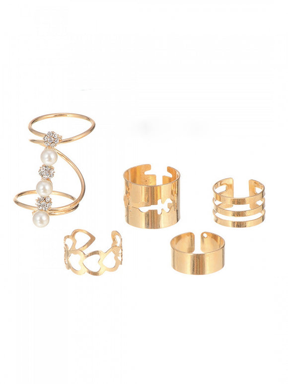 Swirl Ring Set