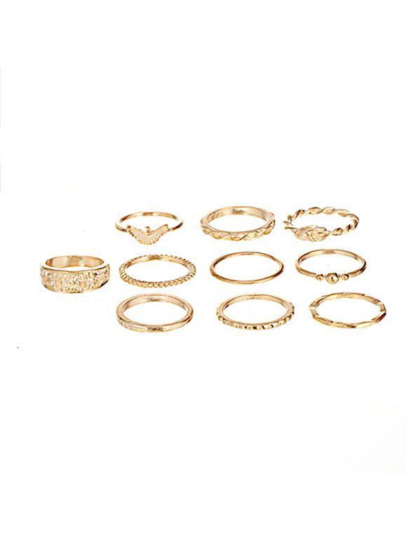 Gold Medley Ring Set