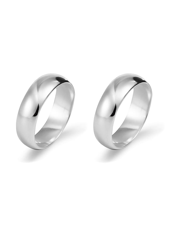 Silver Band Ring Set