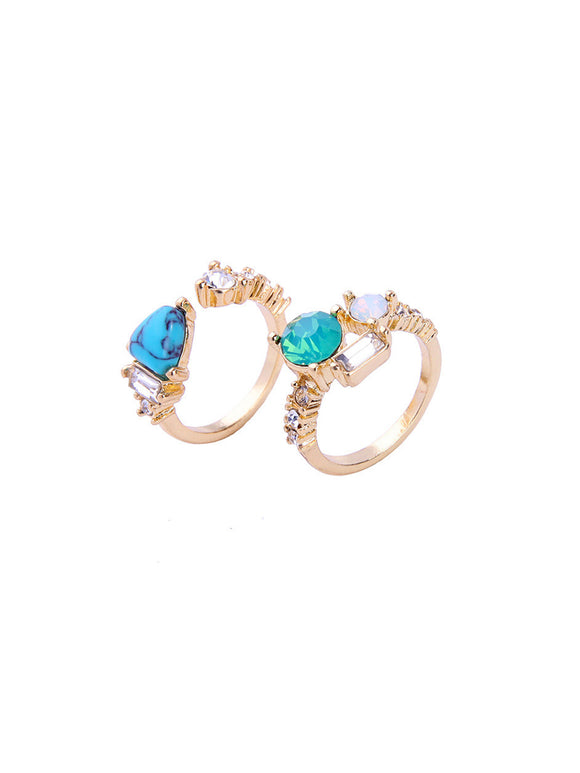 Oceanic Jewels Ring Set