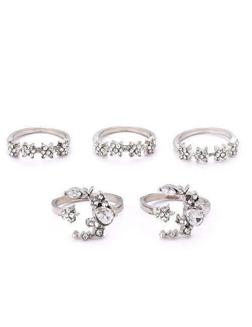 Bedazzled Star Ring Set