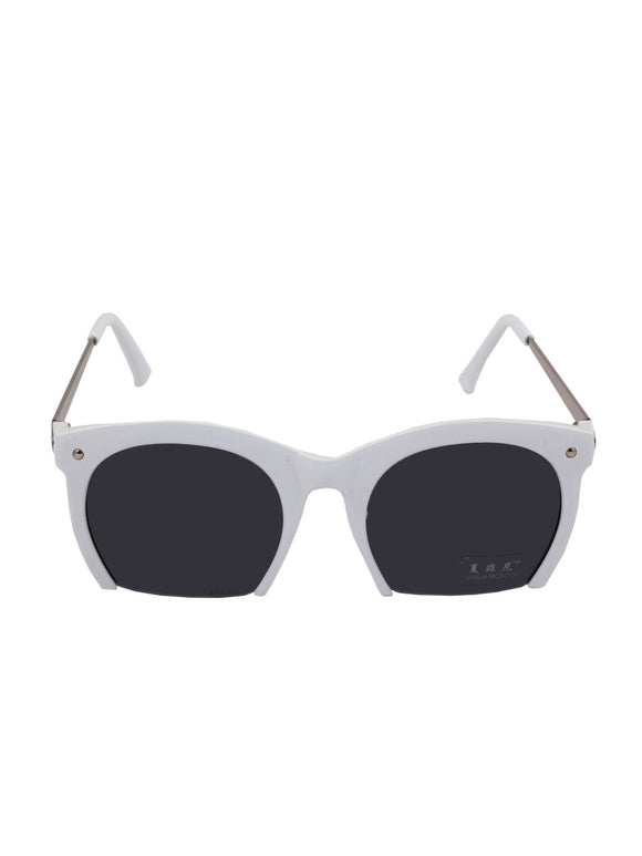 White Cutout Sunglasses