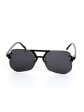 Black Geometric Cut Sunglasses
