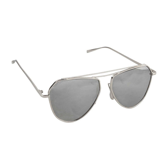 Sleek Cut Sunglasses-Silver