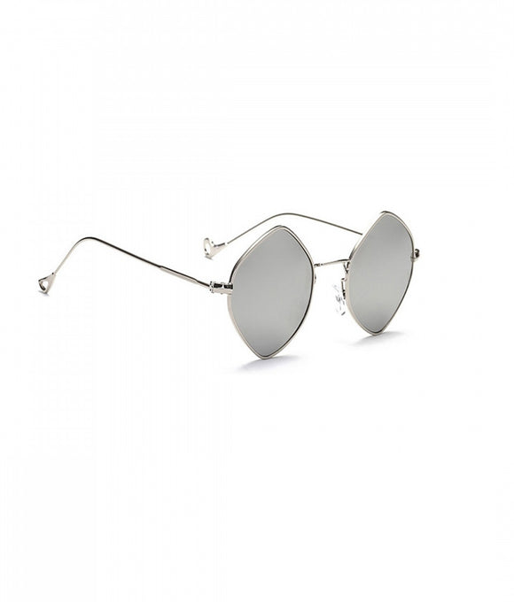 Silver Hexagon Sunglasses
