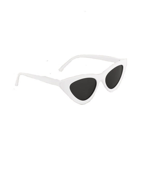Cat Eye Sunglasses-White