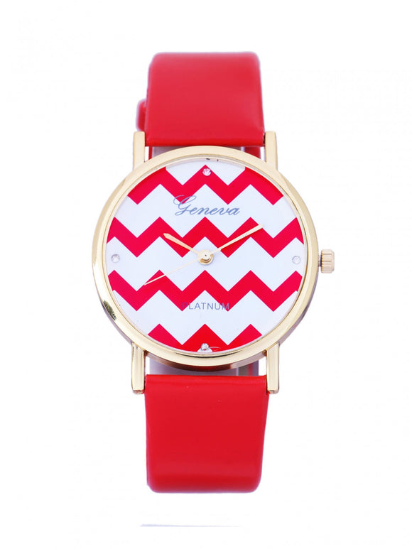 Red Chevron Watch