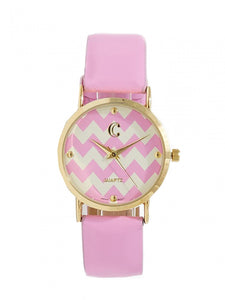Pink Chevron Watch