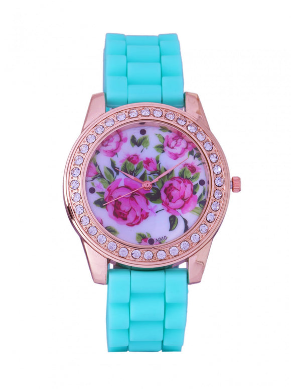 Chunky Mint Rose Watch