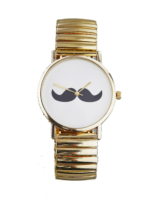 Gold Stache Watch