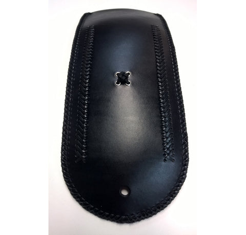 Applique lacing fender bib