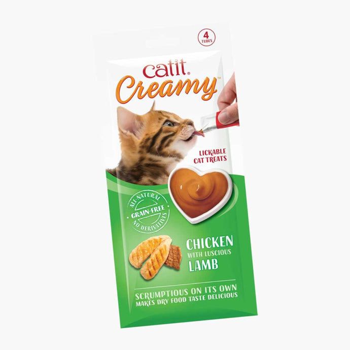 Catit Creamy Cat Treats – Chicken & Lamb 1 Tube