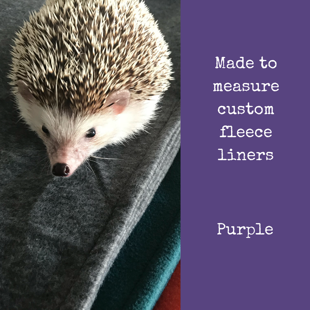 Custom size purple fleece cage liners made to measure - Purple