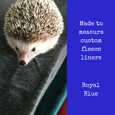 Custom size royal blue fleece cage liners made to measure - Royal blue