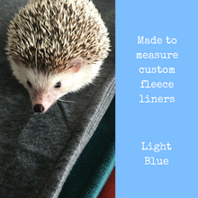 Load image into Gallery viewer, Custom size light blue fleece cage liners made to measure - Light blue