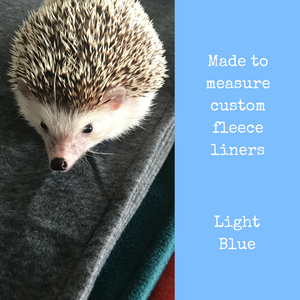 Custom size light blue fleece cage liners made to measure - Light blue