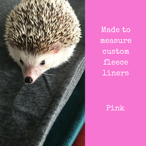 Custom size pink fleece cage liners made to measure - Pink