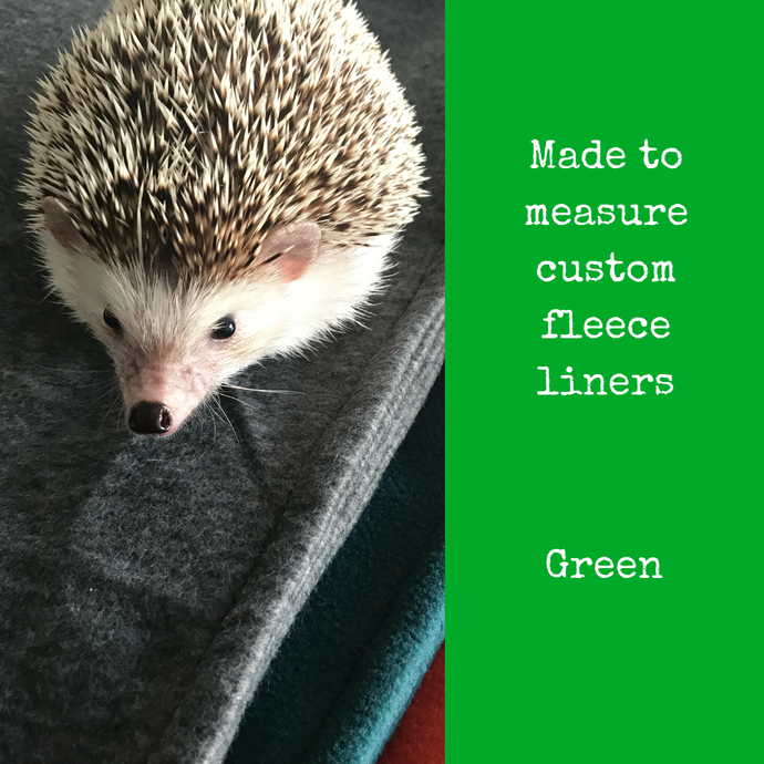 Custom size green fleece cage liners made to measure - Green