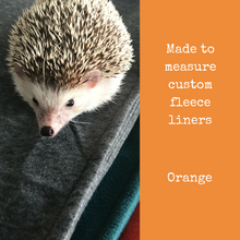 Load image into Gallery viewer, Custom size orange fleece cage liners made to measure - Orange