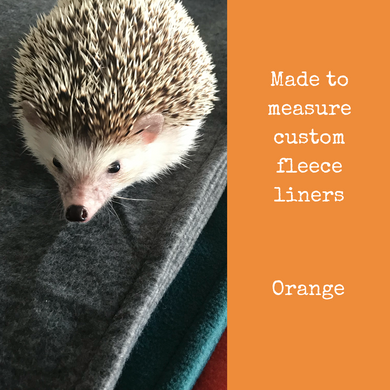 Custom size orange fleece cage liners made to measure - Orange