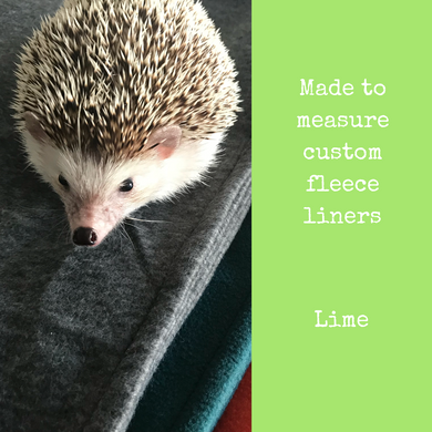 Custom size lime fleece cage liners made to measure - Lime
