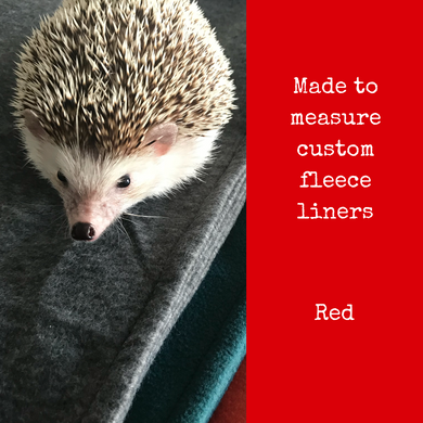 Custom size red fleece cage liners made to measure - Red