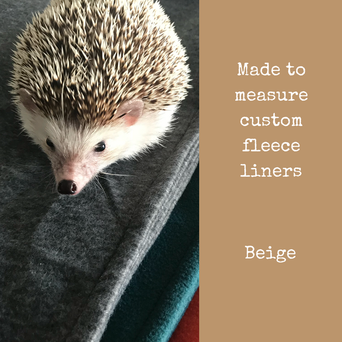Custom size beige fleece cage liners made to measure - Beige