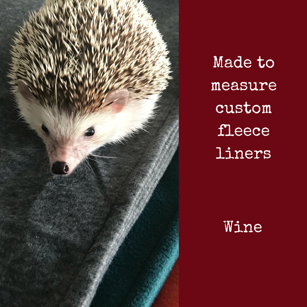 Custom size wine fleece cage liners made to measure - Wine