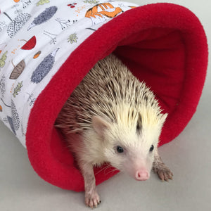 Orange fox & hedgehog mini set. Tunnel, snuggle sack and toys.