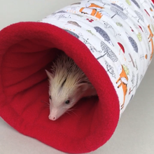 Load image into Gallery viewer, Orange fox & hedgehog mini set. Tunnel, snuggle sack and toys.