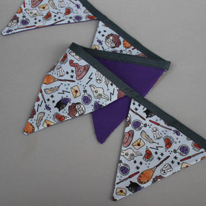 Magical wizard miniature bunting. Viv decorations. Cage decorations.