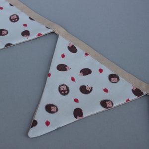 Cream hedgehog miniature bunting. Viv decorations. Cage decorations.