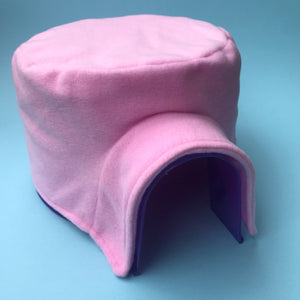 Fleece cover for plastic igloo. Igloo for hedgehog, guinea pig & other small animals. Pigloo cover.
