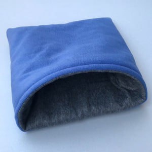 LARGE fleece cosy snuggle cave. Padded stay open cave for guinea pigs. Fleece pet bed.