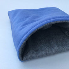 Load image into Gallery viewer, LARGE fleece cosy snuggle cave. Padded stay open cave for guinea pigs. Fleece pet bed.