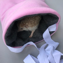 Load image into Gallery viewer, Fleece padded bonding bag, carry bag for hedgehogs. Fleece lined.